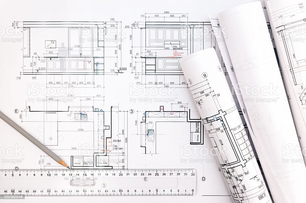 Architect workspace with blueprints pencil and ruler stock photo architect workspace with blueprints pencil and ruler royalty free stock photo malvernweather Gallery