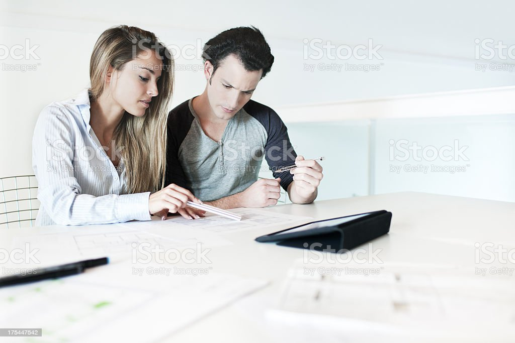 Architectes and designers in their studio. royalty-free stock photo