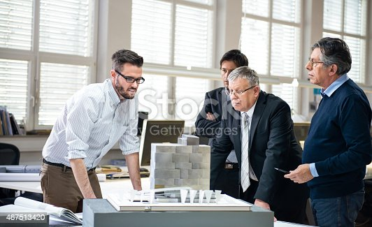 istock Architects and Custumer in Office 467513420