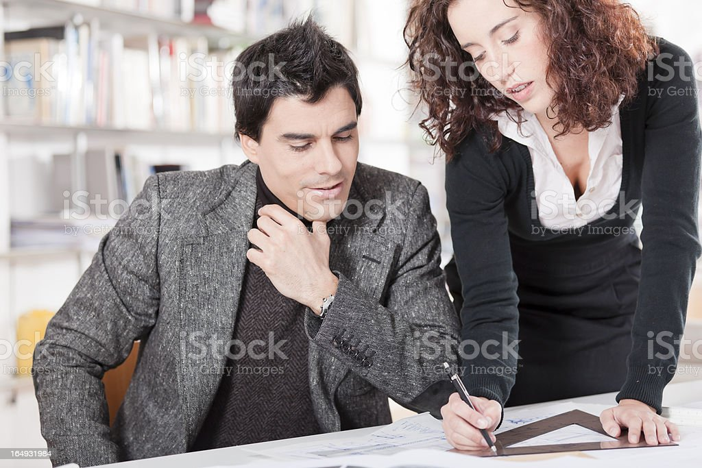 Architects at work royalty-free stock photo