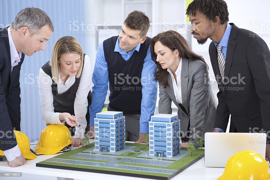 Architects discussing about their project. royalty-free stock photo