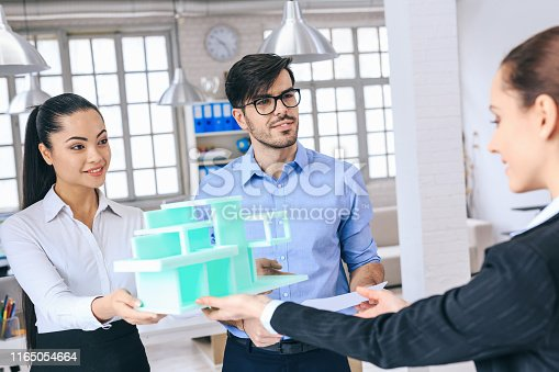 532257236istockphoto Architects discussing new project 1165054664