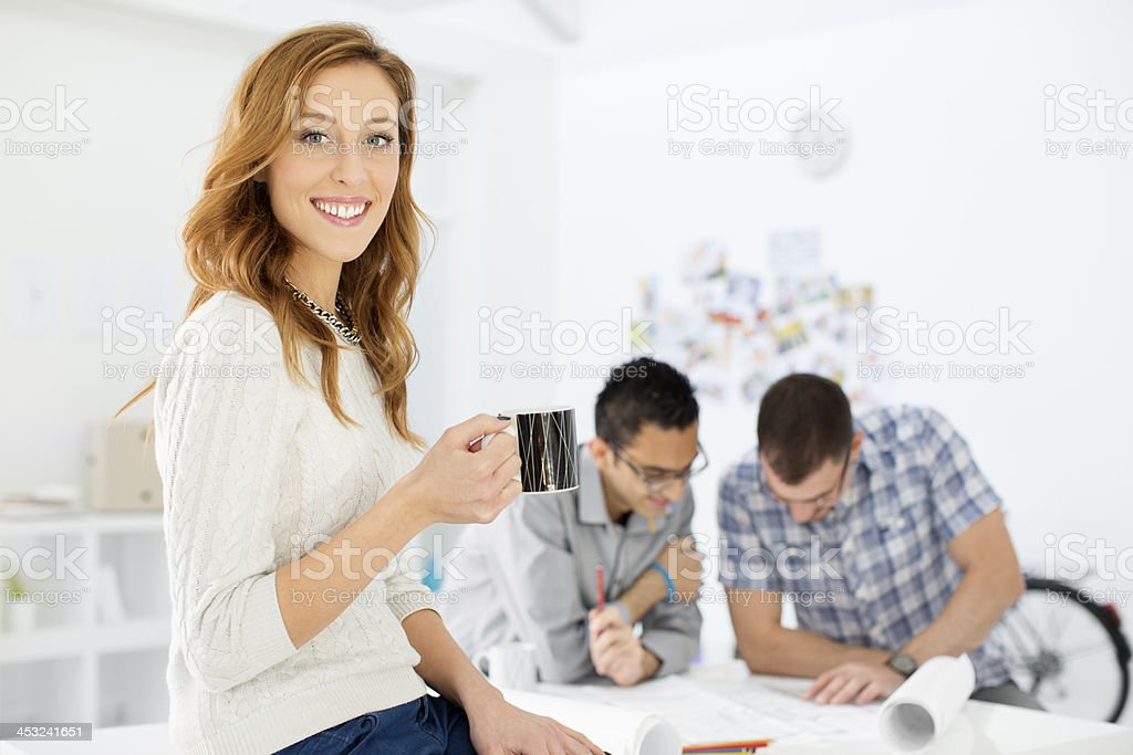 Architects discussing project in office. royalty-free stock photo