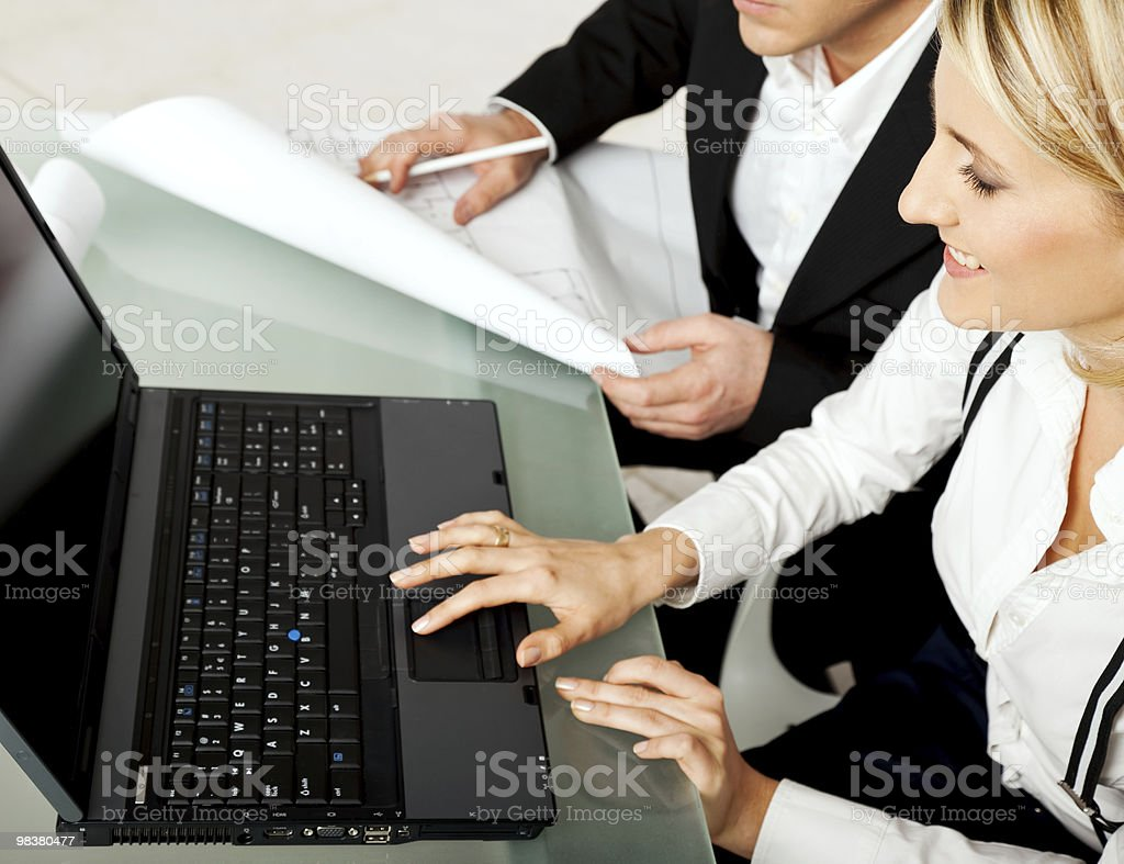 architects engineers laptop royalty-free stock photo