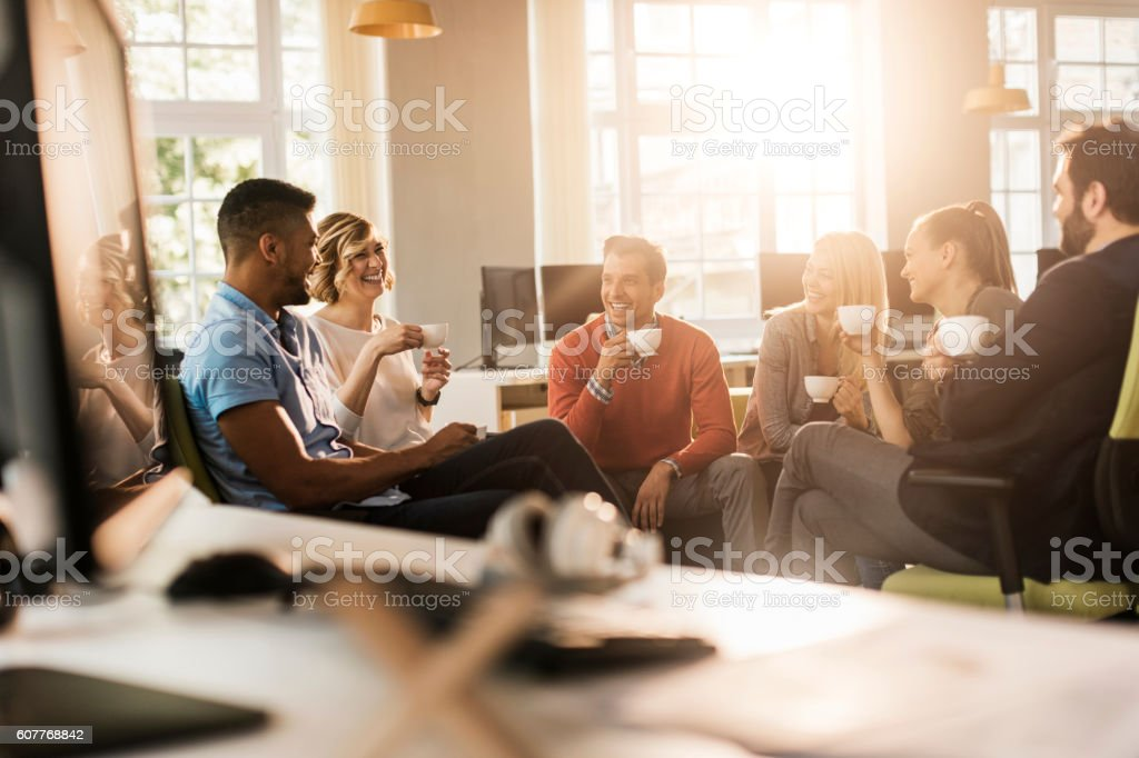 Architects having a break stock photo