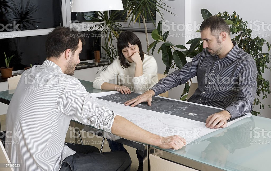Architect's meeting royalty-free stock photo