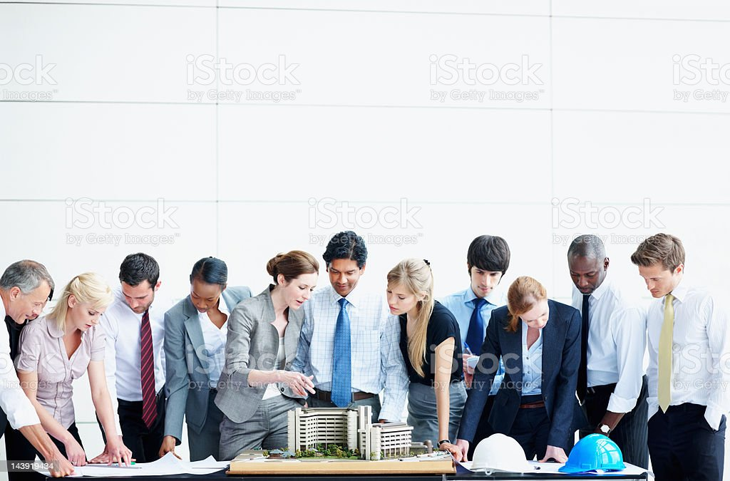 Architects on duty royalty-free stock photo