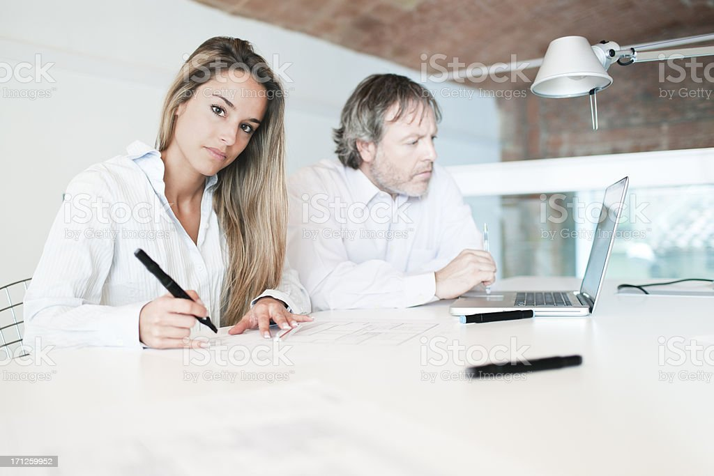 Architects or designers working together. royalty-free stock photo