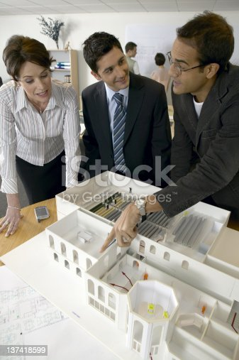 istock Architects studio. N.B.* mocked up plans and model. 137418599