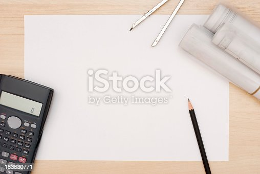 istock Architect's Table 183830771