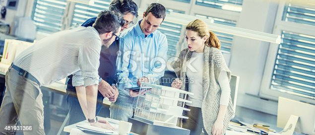 532257236istockphoto Architects team working on project plan 481931366
