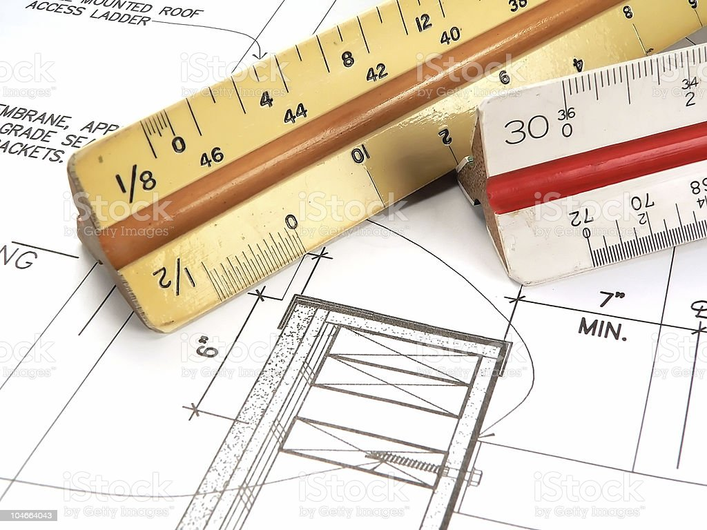 Architects Tools royalty-free stock photo