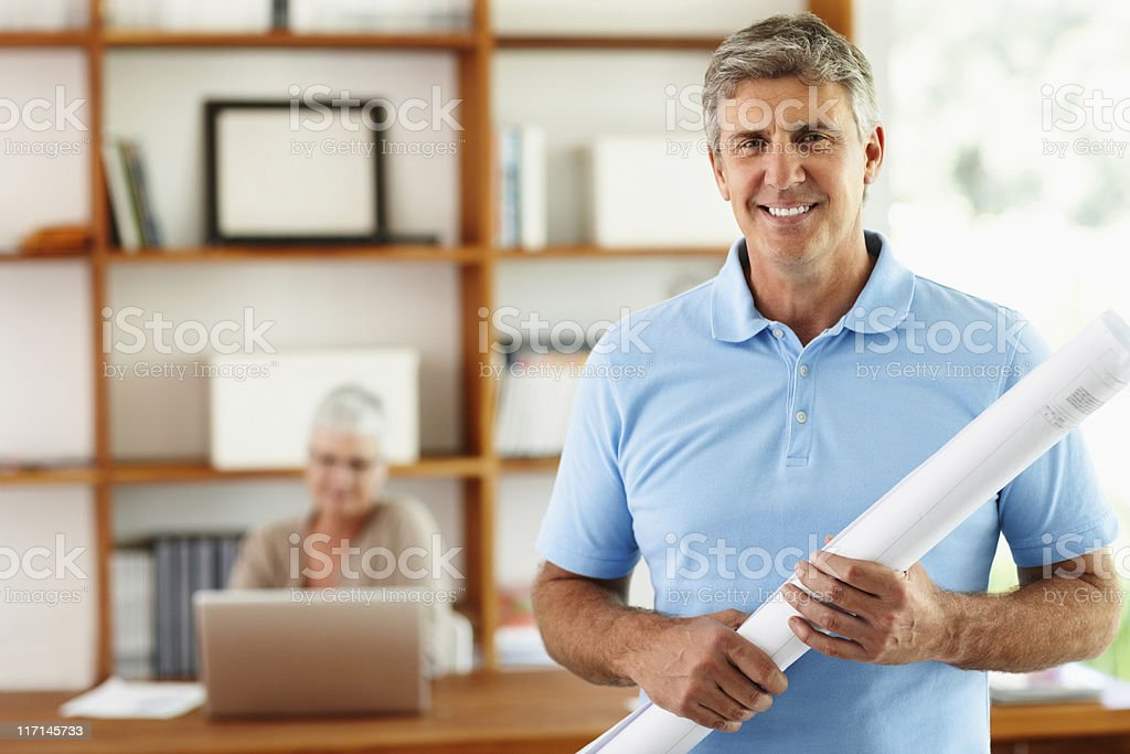 Architects working on new project royalty-free stock photo