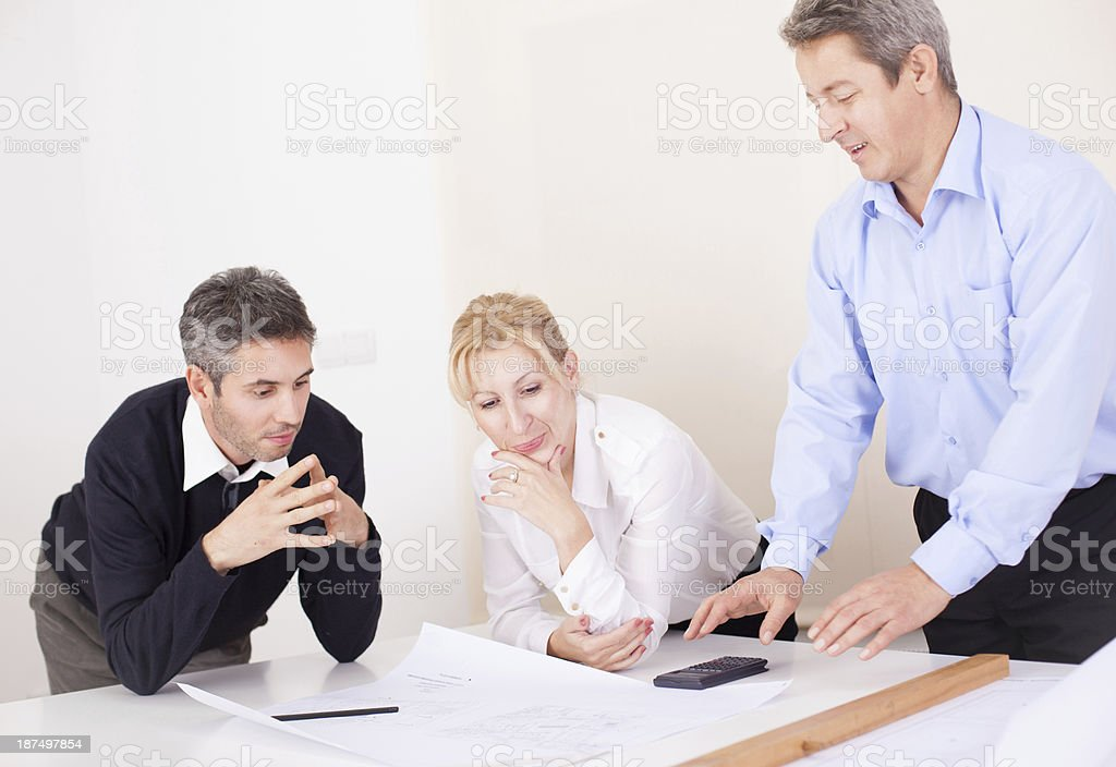 Architects working royalty-free stock photo