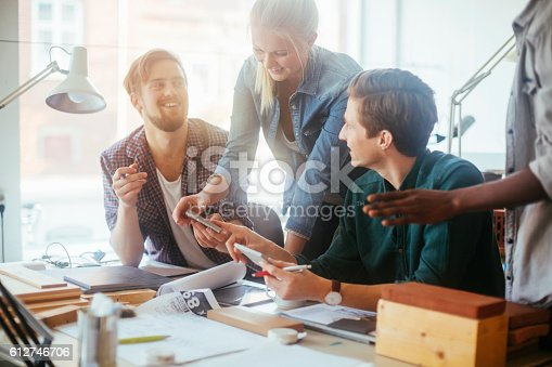 istock Architects working together 612746706