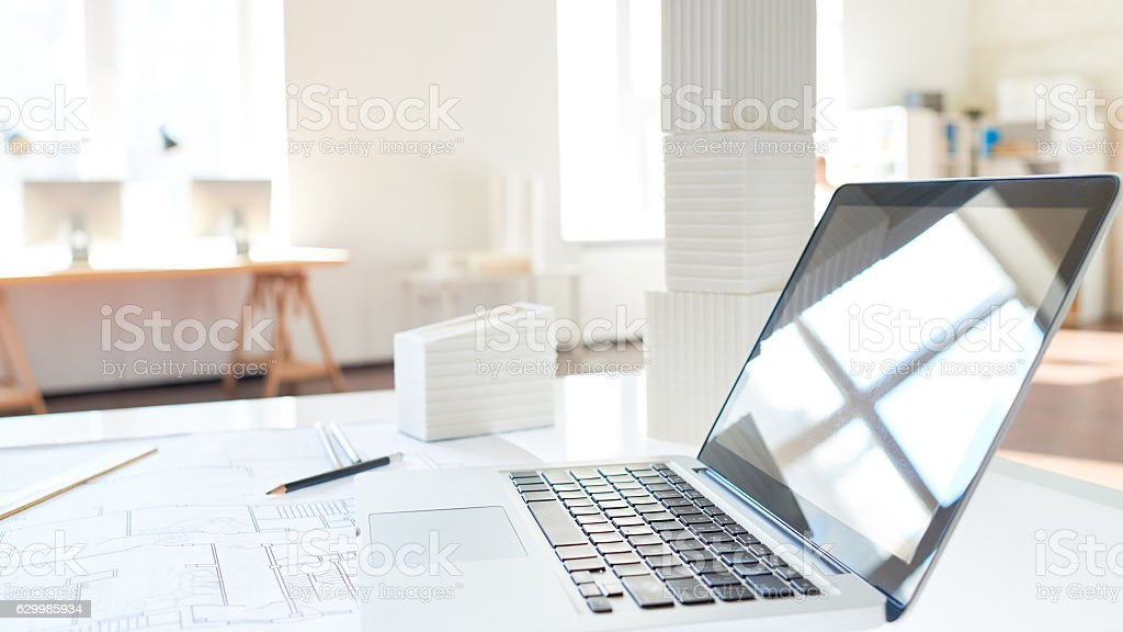 Architects workplace stock photo