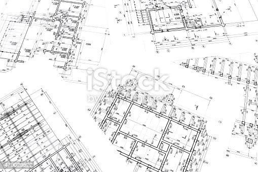 479023658 istock photo architects workspace with plans 479029522