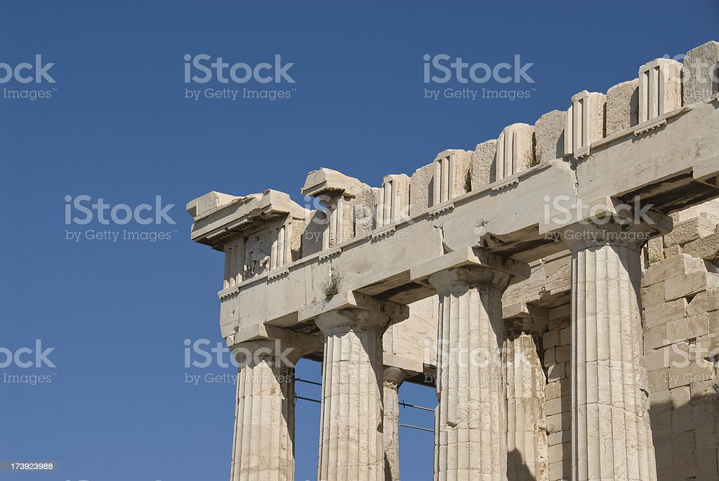 Architectual Detail of The Parthenon royalty-free stock photo