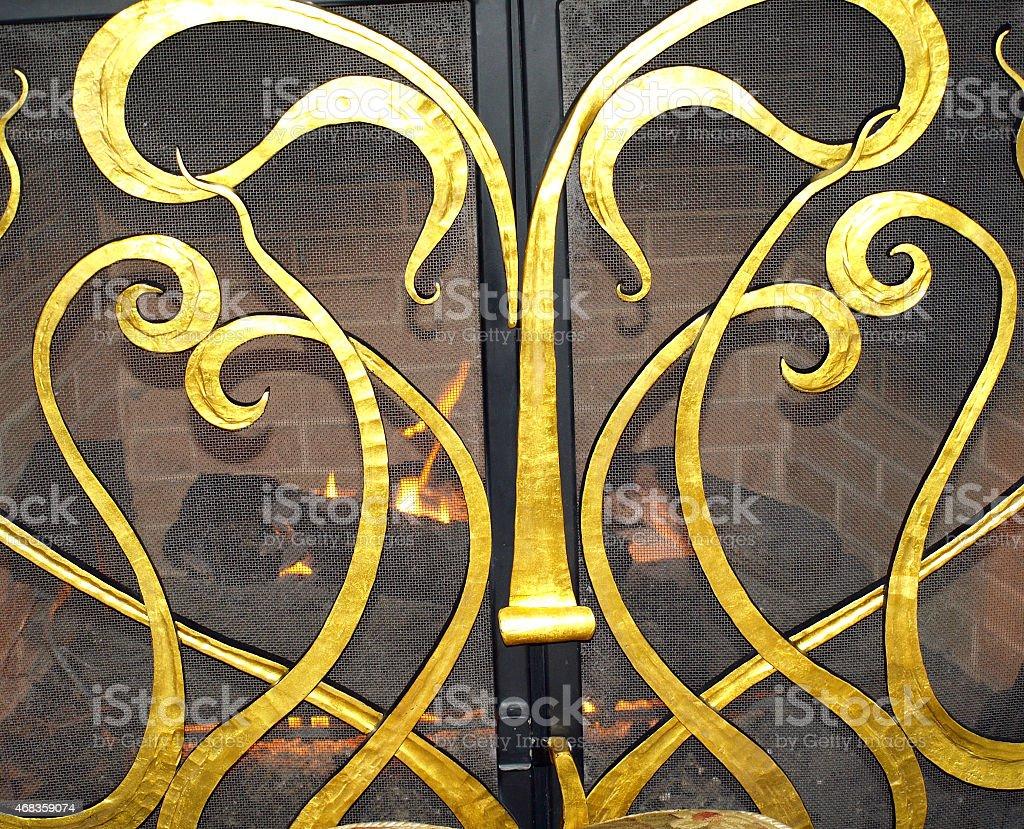 Architectual Gold Swirl royalty-free stock photo