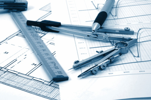 Architectur Plans Of Residential Real Estate Stock Photo - Download Image Now