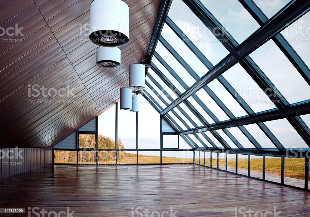 Architectural 3D design stock photo