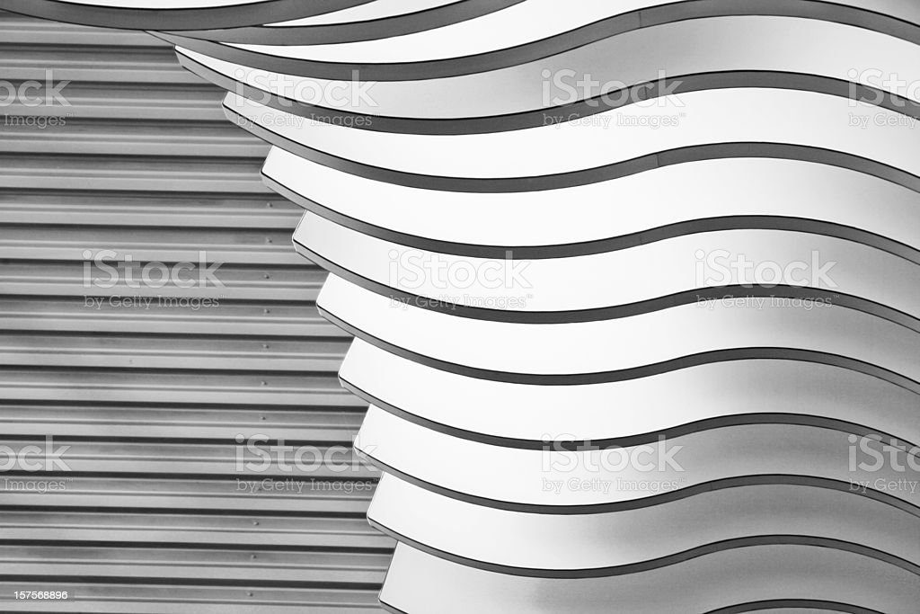 Architectural abstract 2 - Interior of a modern building stock photo
