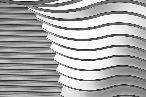 architektonische abstrakte 2-interieur eines modernen gebäudes - dachformen stock-fotos und bilder