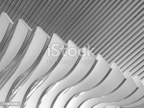 istock Architectural abstract 6 - Interior of a modern building 188092662