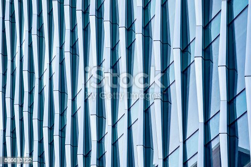 istock Architectural abstract, a modern office building 866613122