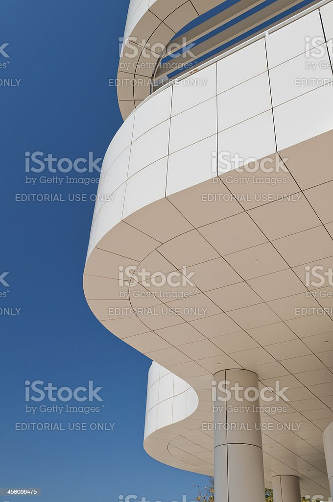 Architectural Abstract Of The J. Paul Getty Museum royalty-free stock photo