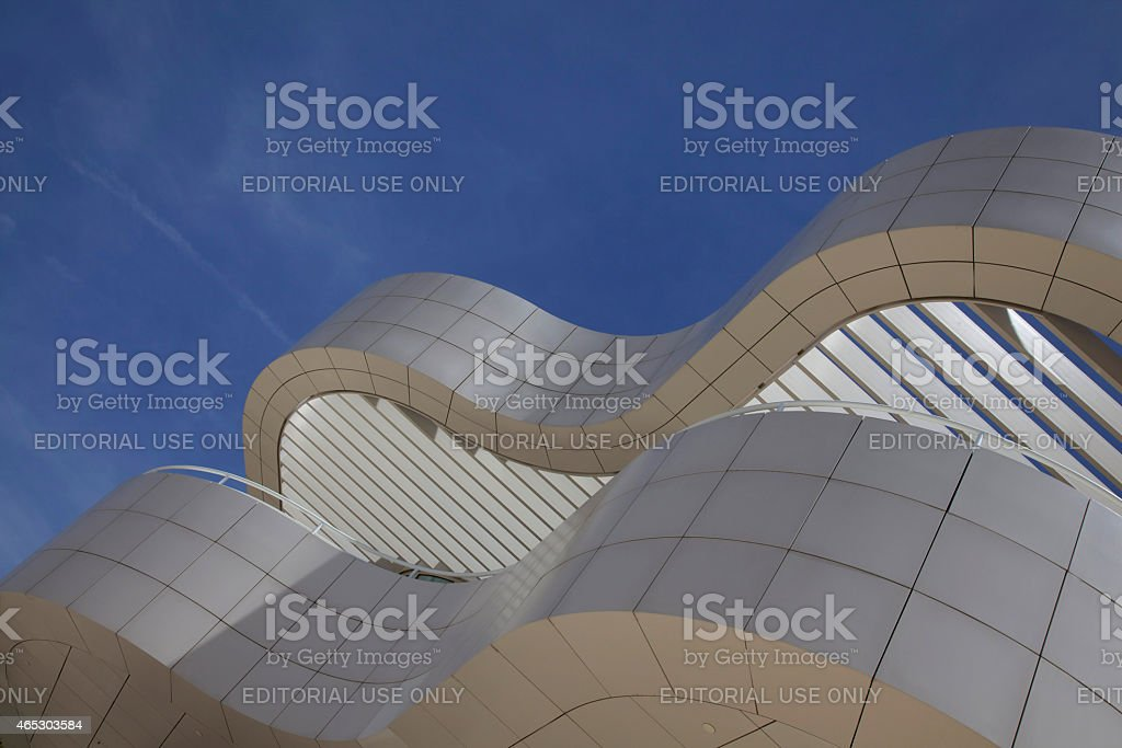 Architectural Abstract Of The J. Paul Getty Museum stock photo