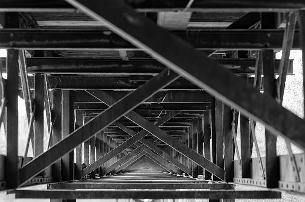 Architectural Abstracts - steel truss bridge foto