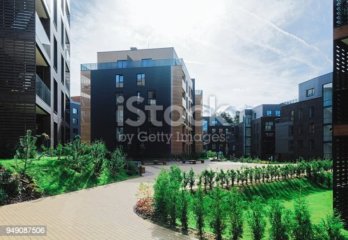 949087660 istock photo Architectural apartment residential building complex 949087506
