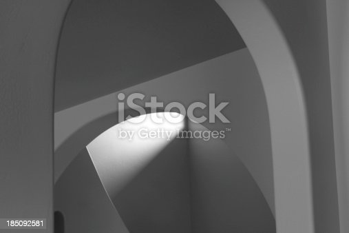 istock Architectural Arch Ceiling Wall Abstract 185092581