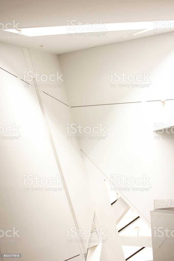 architectural background with faceted design stock photo