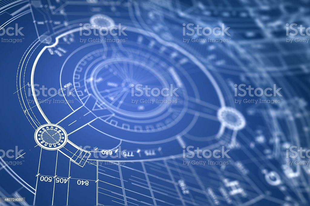 Architectural blueprint royalty-free stock photo