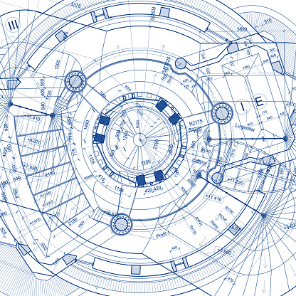 istock Architectural blueprints on white background 498402310