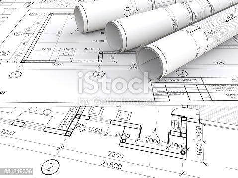 845440944istockphoto Architectural blueprints. 851249306
