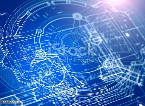 istock Architectural blueprints 877148466