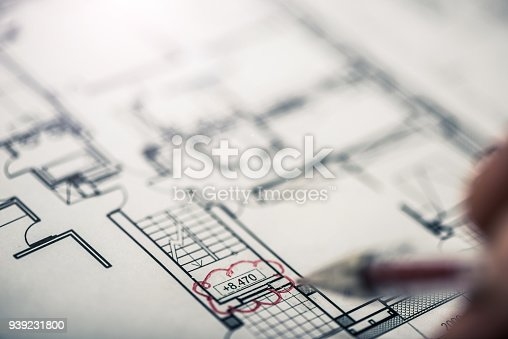 Architectural blueprints with red revision cloud stock photo more architectural blueprints with red revision cloud stock photo more pictures of apartment istock malvernweather Images