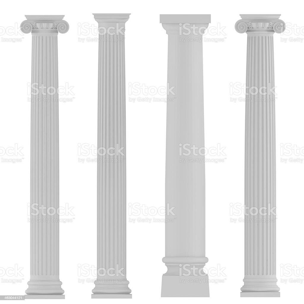 Architectural classic columns stock photo