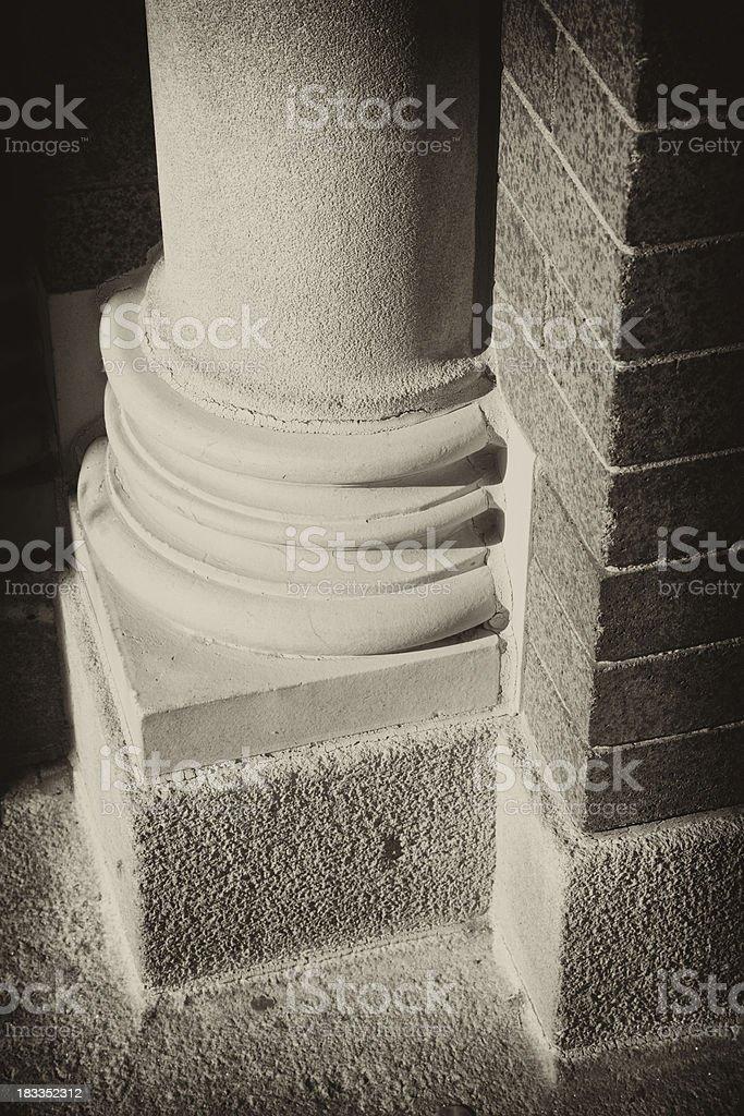 Architectural Column Base stock photo