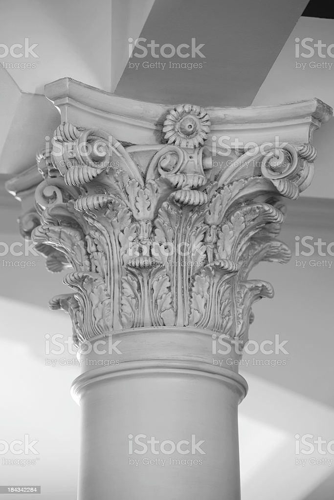 Architectural column or pillar and cap. royalty-free stock photo