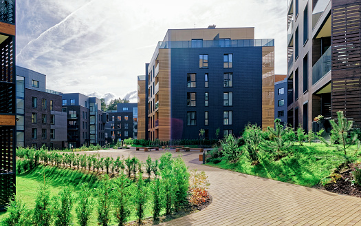 Architectural complex of apartment residential buildings. And outdoor facilities.