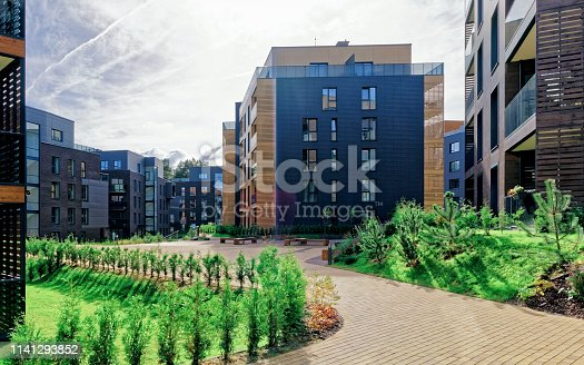 1165384568 istock photo Architectural complex of residential buildings 1141293852