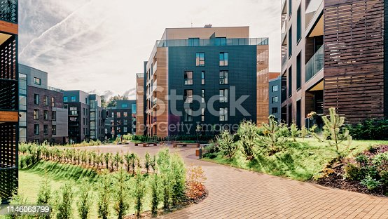 1165384568 istock photo Architectural complex of residential buildings 1146063799