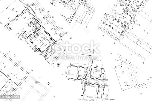 istock architectural construction documents and floor plans 479023854