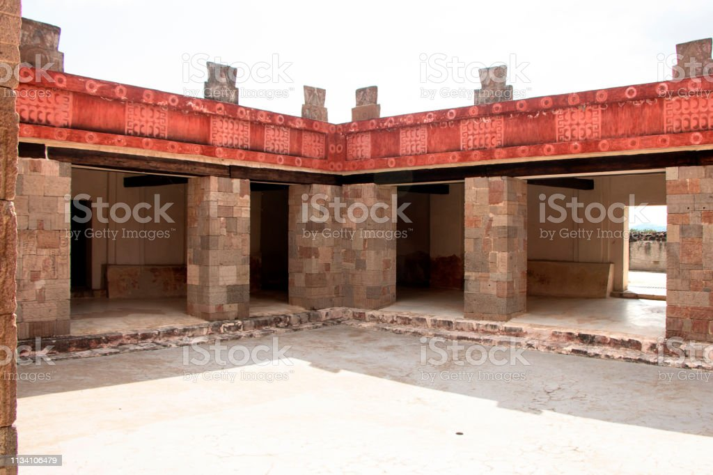 Architectural Construction in Teotihuacán stock photo
