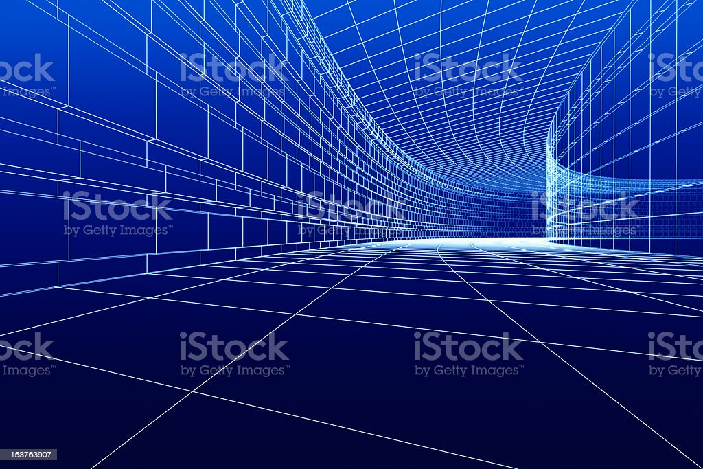 3D architectural construction royalty-free stock photo