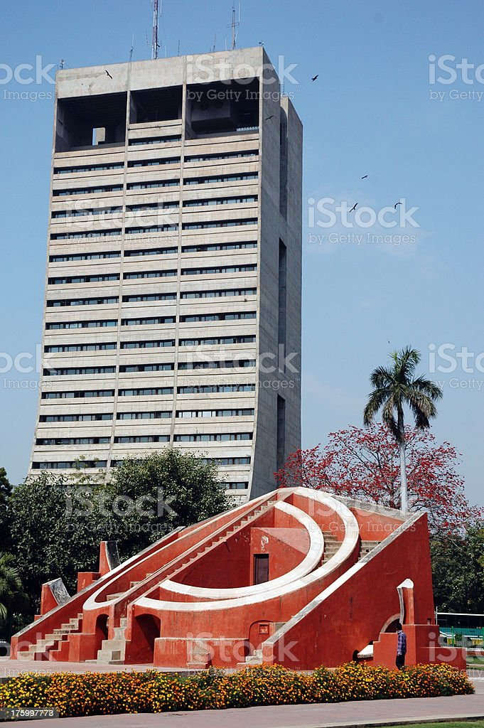 Architectural Contrast royalty-free stock photo